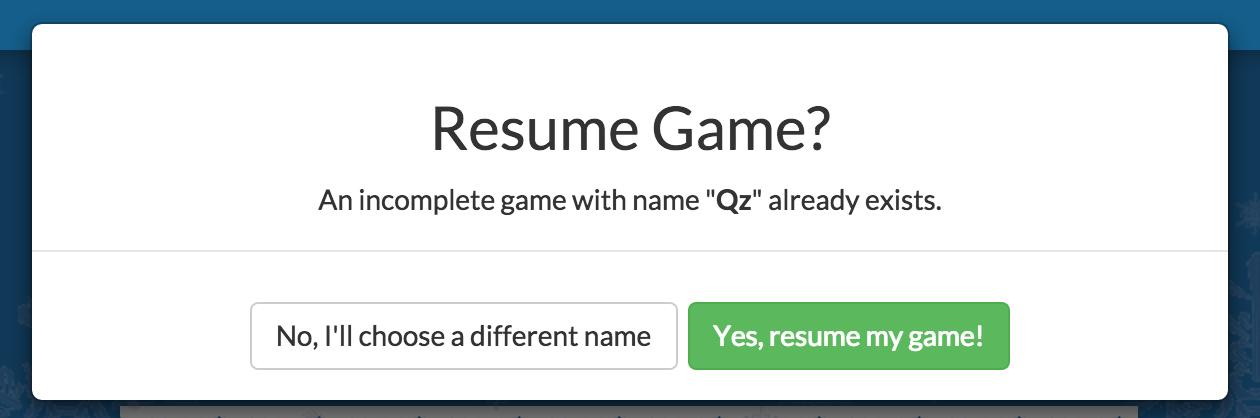 resume game